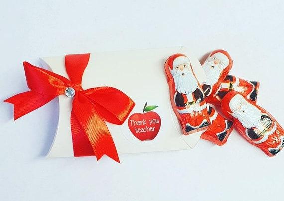 Teacher Gift Thank You Christmas Pillow Box Favours
