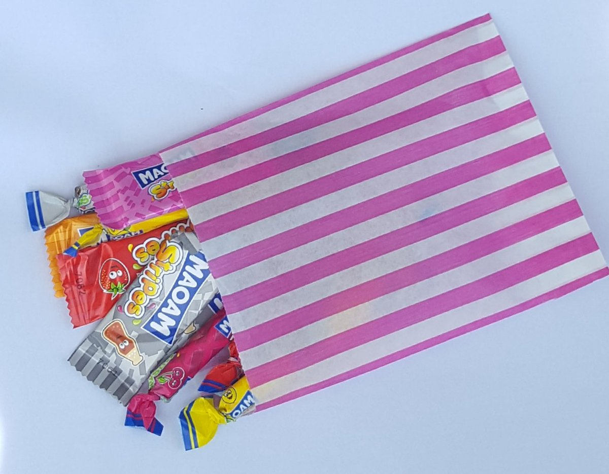 51be2971c9f3 Pre filled childrens party baby shower christenng candy stripe sweet ...