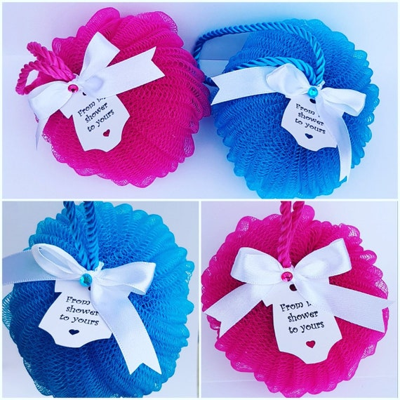 From My Shower To Yours Baby Shower Favours Body Puff Gender Reveal Bridal Shower Favours (Qty 1)