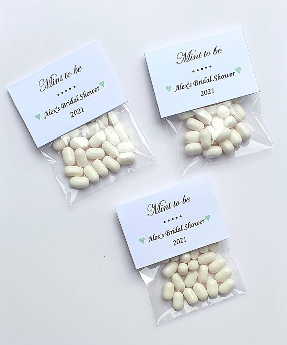 Mint to Be Personalised Favours Wedding Bridal Shower Hen Party Sweets (qty 10)