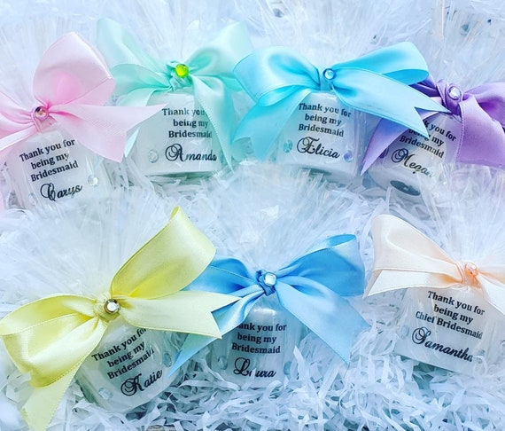 Thank You for being my Bridesmaid Maid of Honour Personalised Candle Favour Keepsake Wedding Gift (Qty 1)