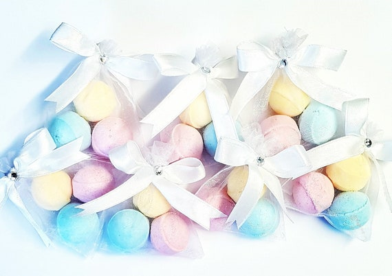 Scented Bath Bomb Favours Fizzers Baby Shower Bridal Shower Party Favours Slumber Party Spa (Qty 5)