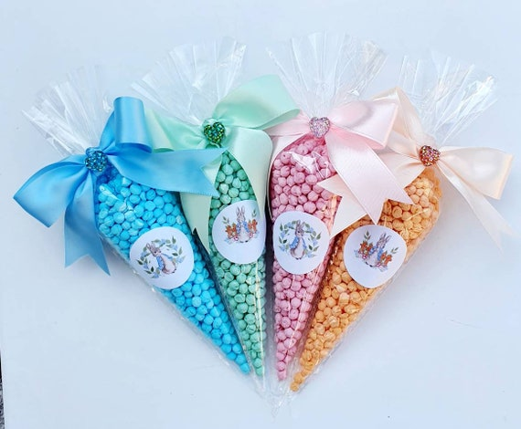 Sweet Cones Orange Millions Rabbit Themed Party Favours Baby Shower Birthday (4)