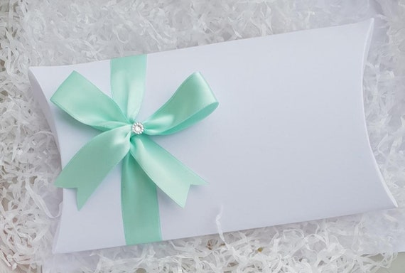 Large White Pillow Box Favour Box Decorated Personalised Gift Baby Shower Birthday