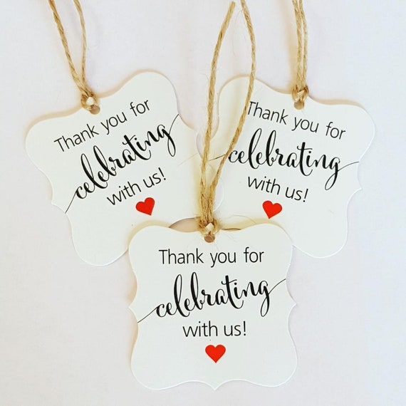 10 Wedding Favour Gift Tags  Favours Party Tags