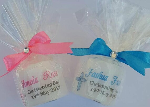 Christening Favours  Personalised Candles Baptism Keepsake Naming Day Religious Gift  Keepsake (QTY 1)