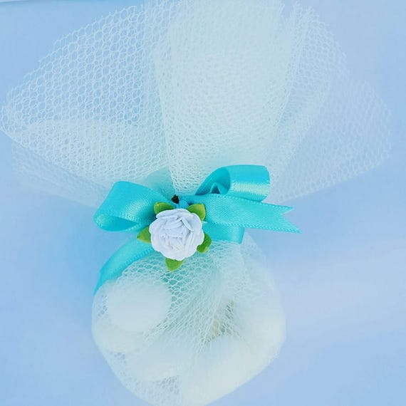Candy Sweet Favours in organza  Tulle Bag. Weddings Baby Shower Gift (Qty 1)