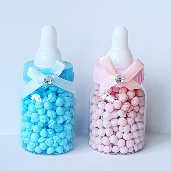 Mini Baby Bottle Favours Baby Shower Gender Reveal Birthday Party Millions Sweets (Qty 1)