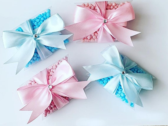 Gender Reveal Baby Shower Favours Pillow Box filled with Millions Unisex Bridal Party (Qty 1)