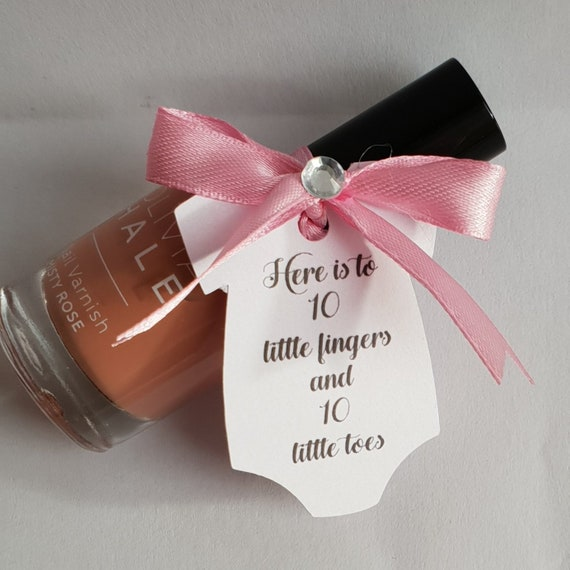 Nail Polish Baby Shower Favours Bridal Shower Hen Party Spa Day Gender Reveal (Qty 1)