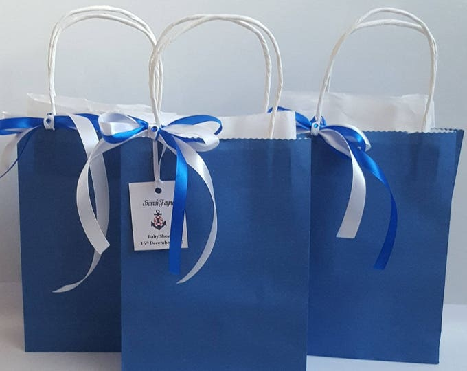 Nautical themed baby shower personalised favour  welcome bag