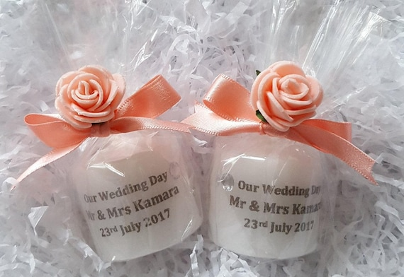 Personalised Wedding Favours Candle Favours  Custom Made Favours
