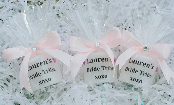 Hen Party Personalised Candles Bride Tribe Hens Bridal Shower Bachelorette Keepsakes Favours (Qty 1)