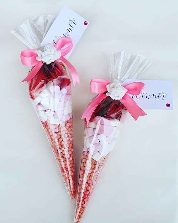 Sweet Cones Party Favours Baby Shower Sweet 16 Hen Party Thank You Favour (Qty 10)