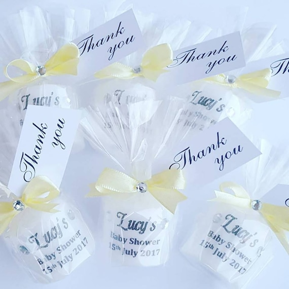 Baby Shower Favours Personalised Candle  Gender Reveal Keepsakes (Qty 1)