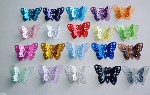 3d Butterflies Table Confetti Baby Shower Weddings Table Decor Craft Embellishments (Qty 20)