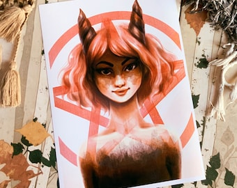 Lovely Succubus II Art Print (Shipping include tracking number)