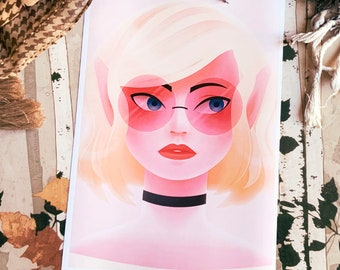 Chic Elf Girl Art Print (Shipping include tracking number)