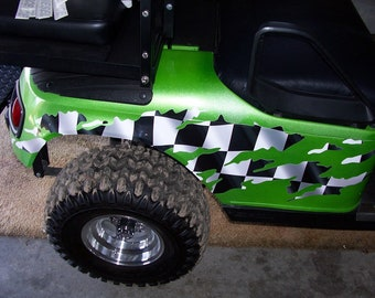 Golf Cart Flames 1 Graphics Decal Decals EZGO Club Car