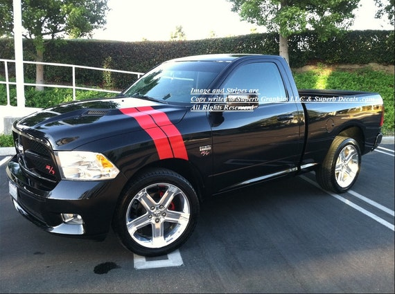 2002 and up Dodge Ram Custom Hood Stripe Decal