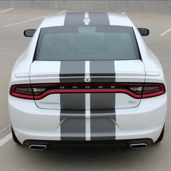 Choose Color Dodge Challenger 2008-2019 Rally Double Center Stripes Decals