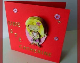 "St. catherine ""girl"" card"