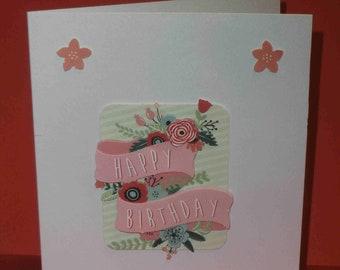 """""""HAPPY BIRTHDAY"""" birthday 3D card"""