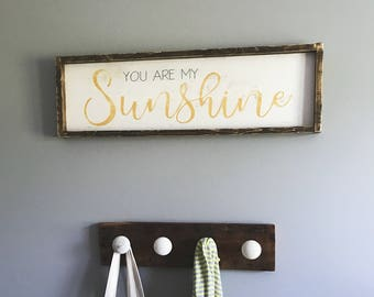 You Are My Sunshine Sign | Farmhouse Style Sign | Framed Sign | Nursery Decor | Kids Decor | Baby Shower