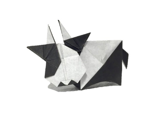 Instruction Origami Cow Diagrams From Origamity On Etsy Studio