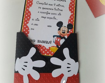 Mickey Mouse Invitation Pack