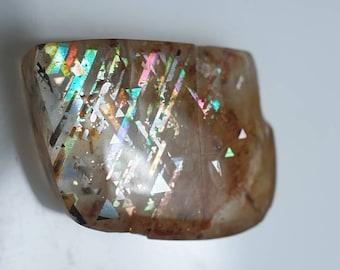Moonstone for Jewellery Quality 100/% Natural sunstone moonstone cabochon AAA Top Rainbow Lattice sunstone Loose Gemstone 38 Cts #6679N