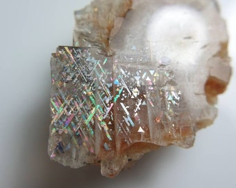 Rainbow Lattice Sunstone Specimen 27x24x10mm 31.83cts Bc1318