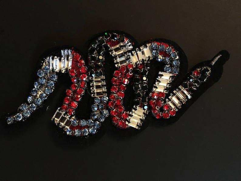Iron on Patch-Snake Embroidery Patch-Snake Patch-Snake Iron on Patch-Snake Applique-Snake Embroidery-Iron on Applique-Beaded Patch