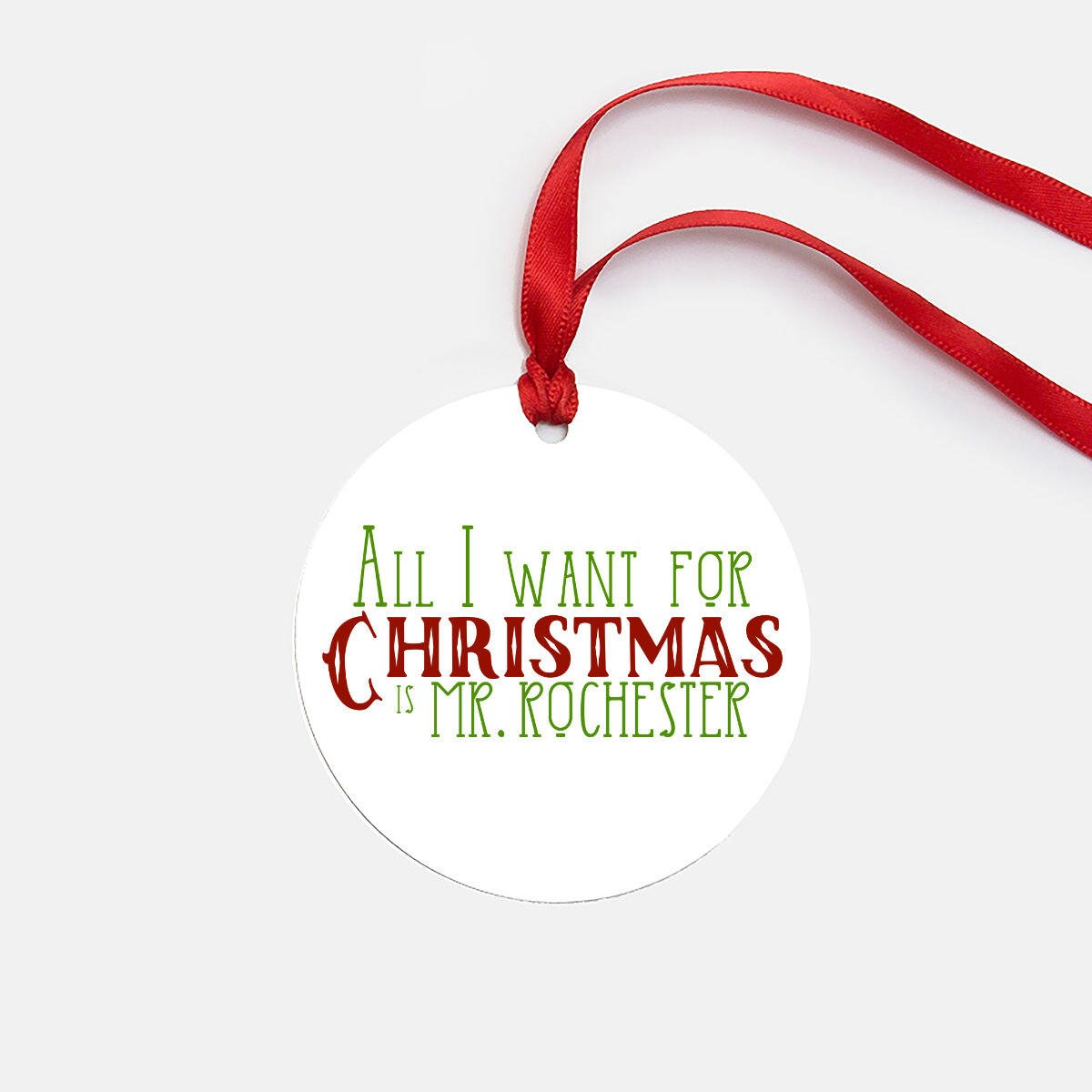 Jane Eyre Bookish Christmas Ornament White Elephant Gifts | Etsy