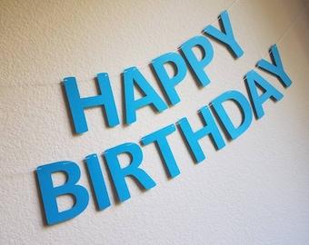 blue birthday banner etsy