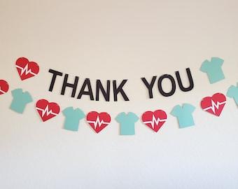 Thank You Nurses, Thank You Doctors, Doctor Banner, Medical Decoration, Nurse Birthday Theme, Nurse Garland, Doctor Garland, Nurse Ornament