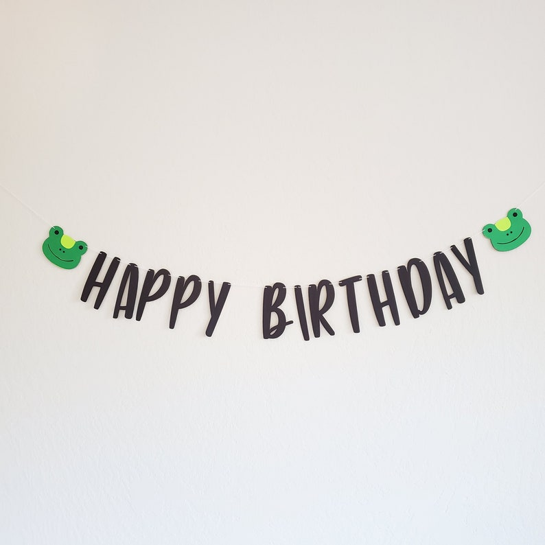 Frog Banner Cute Frog Decorations Frog Decor Frog Baby Room Decorations Frog Garland Babies Room Frogs Frog Birthday Party Decorations