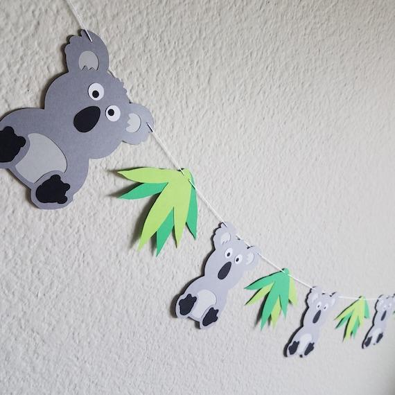 Koala Personalized Birthday Letter Banner 1 Pc. Green