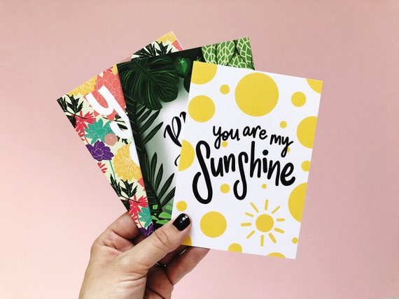 A6 Greetings Card Multipack (3 Cards)
