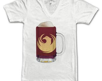 Ladies Phoenix City Flag Beer Mug Tee, Home Tee, City Pride, City Flag, Beer Tee, Beer T-Shirt, Beer Thinkers, Beer Lovers Tee
