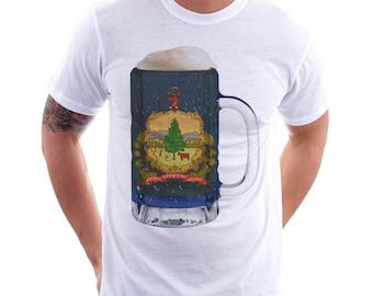 Vermont State Flag Beer Mug Tee, Unisex, Home Tee, State Pride, State Flag, Beer Tee, Beer T-Shirt, Beer Thinkers, Beer Lovers Tee, Fun Beer