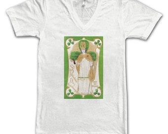 Ladies St. Patrick's Tee, Women's Tee, , Beer Tees, Beer T-Shirt, Beer Lovers, Art Lovers, Beer Thinkers, Beer Art, Altered Art, St. Paddy's