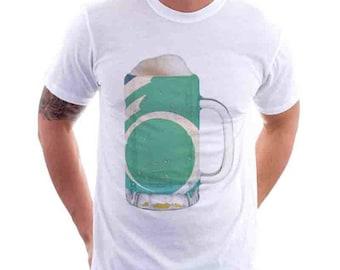 Ottowa City Flag Beer Mug Tee, Home Tee, City Pride, City Flag, Beer Tee, Beer T-Shirt, Beer Thinkers, Beer Lovers Tee