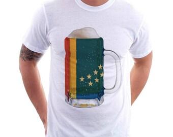 Durham, NC City Flag Beer Mug Tee, Unisex, City Pride, City Flag, Home Tee, Beer Tee, Beer T-Shirt, Beer Thinkers, Beer Lovers Tee