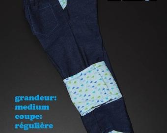Scalable jeans size medium, regular cut drops blue