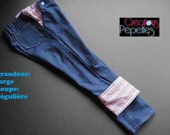 Scalable jeans size large, cut regular purple chevron