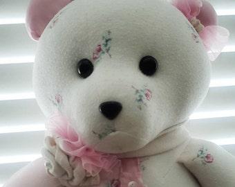 Custom Memory / keepsake Bear, personalized stuffed bear