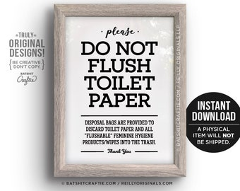 photograph relating to Free Printable Do Not Flush Signs titled Do not flush indicator Etsy