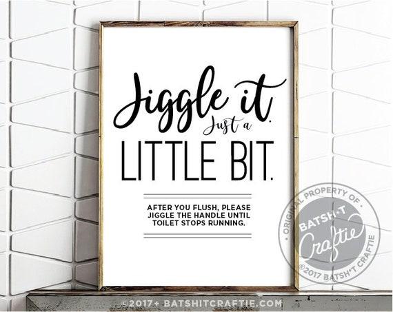 printable bathroom sign jiggle toilet handle plumbing septic etsy