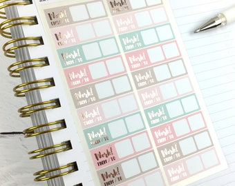 Work Stickers, Planner Stickers, Foil Planner Stickers, Functional Stickers, Rose Gold Foil, 1 Sheet of 20 stickers